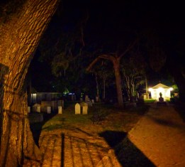 Cemetary Downtown at Twilight on St Augustine Ghost Tour 3