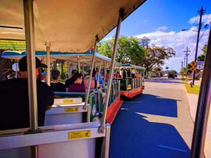 Riding on Old Town Trolley Tours St Augustine 1