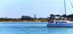 St Augustine Lighthouse from Matanzas River during St Augustine Ecotours 1
