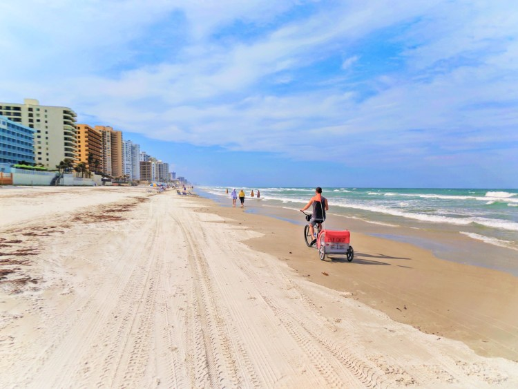 Taylor Family biking on Daytona Beach 9