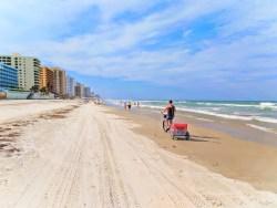 Taylor Family biking on Daytona Beach 9