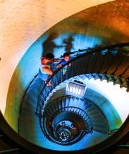 Taylor Family climbing Ponce Inlet Lighthouse Daytona Beach 2