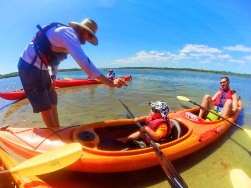 Taylor family kayaking Ripple Effect Ecotours at GTM Reserve St Augustine 1