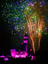 Fireworks Display at Sleeping Beauty Castle Disneyland 3