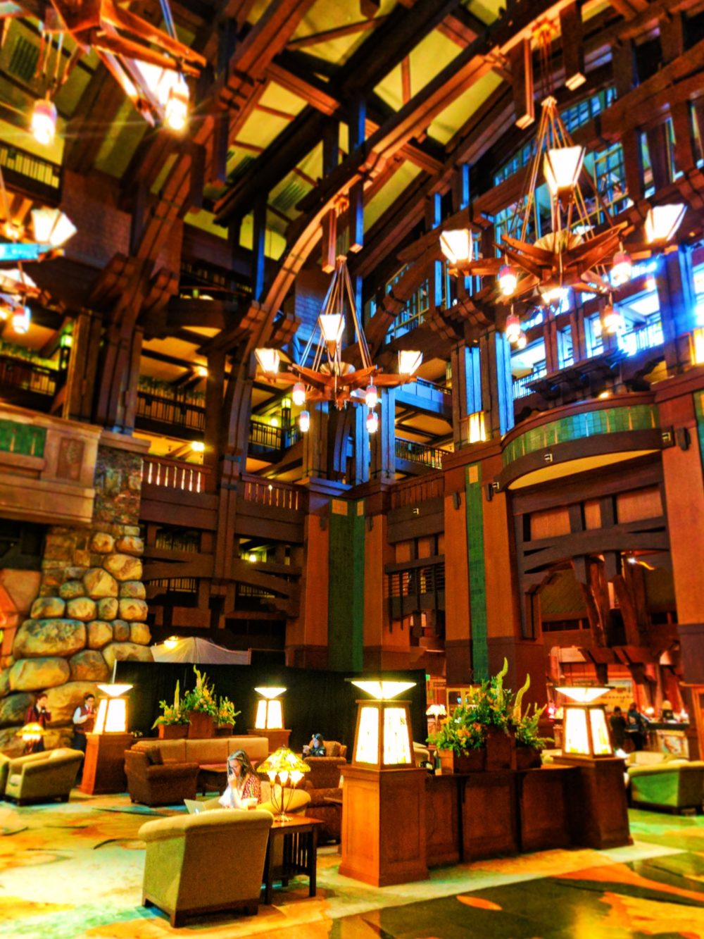 Grand Lobby of Disneys Grand Californian Hotel Disneyland 1