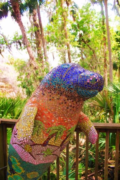 Mosaic Manatee at Blue Spring State Park Daytona Beach 1