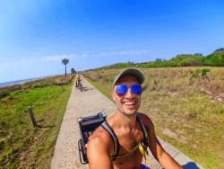 Taylor Family biking by the Beach Jekyll Island Golden Isles 1