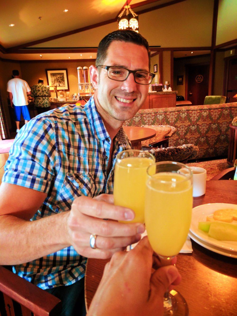 Taylor Family in Craftsmans Club Disneys Grand Californian Hotel Disneyland 1