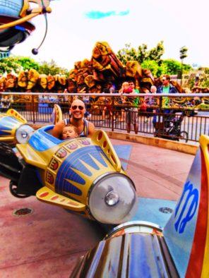 Taylor Family on Rockets in Tomorrowland Disneyland 2