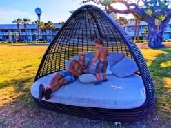Taylor Family relaxing at Holiday Inn Resort Jekyll Island Golden Isles Georgia 2