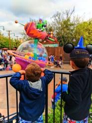 Taylor Family with Toy Story Pixar Play Parade Disneys California Adventure 2