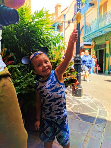 Taylor Kids with Lolipop in New Orleans Square Disneyland 1