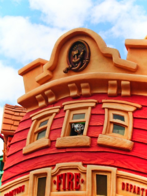 Fire Station in Toontown Disneyland 1