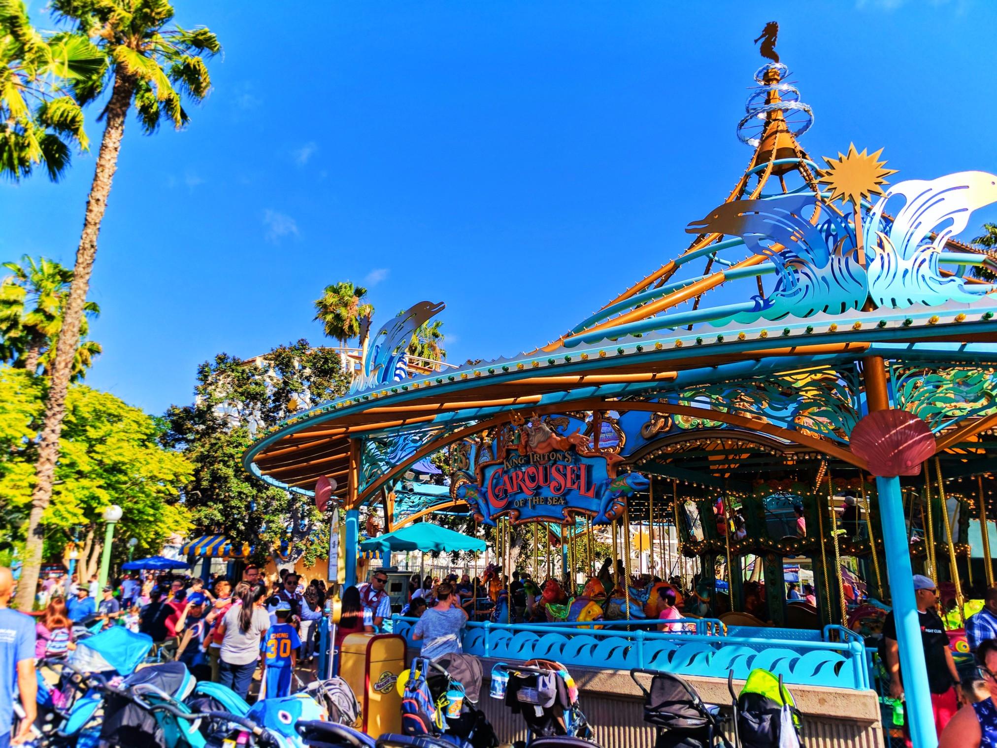 King Tritons Carousel Paradise Pier Disenys California Adventure 1