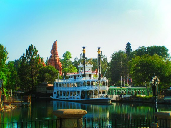 Mark Twain Riverboat in Frontierland Disneyland 1