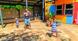 Taylor Family Hula Hooping on Rooftop at Madison Childrens Museum 1