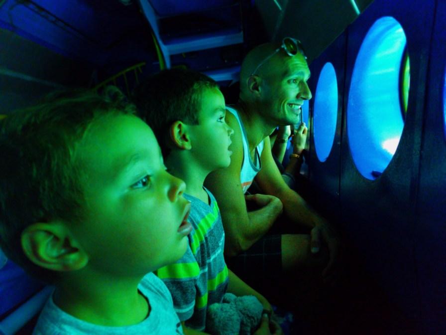 Taylor Family on Finding Nemo Submarines Tomorrowland Disneyland 3
