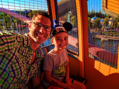 Taylor Family on Mickeys Fun Wheel at Paradise Pier Disneys California Adventure 2