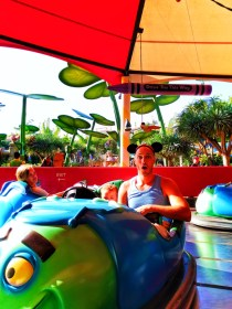 Taylor Family on Tuck n Roll Bumper Cars Bugland Disneys California Adventure 1