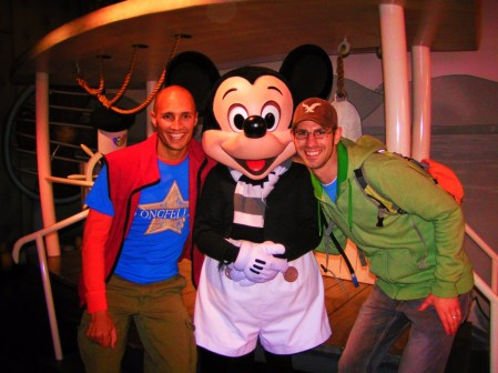 Taylor Family with Steamboat Willie Mickey Mouse Toontown Disneyland 1