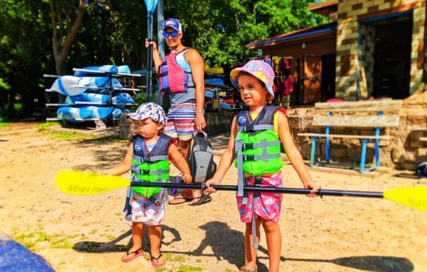 Taylor family kayaking with Wingra Boats Madison Wisconsin 1
