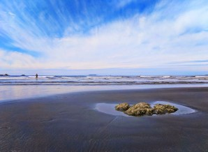 Sandy stretch at Ruby Beach Olympic National Park 2
