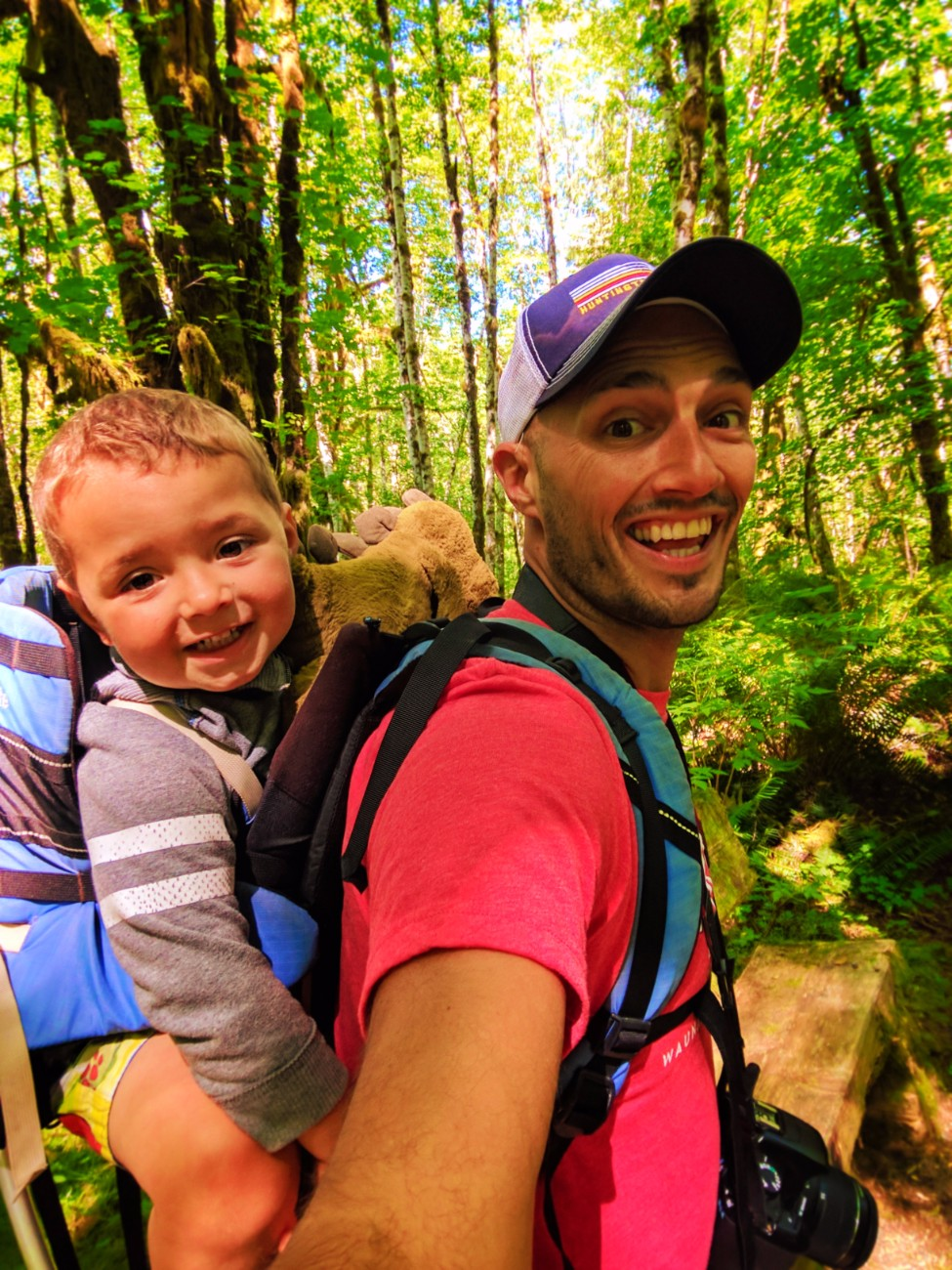 Taylor Family Hiking in Quinault Rainforest Olympic National Park 10