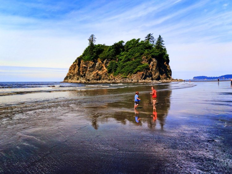 Taylor Family and Sea Stacks at Ruby Beach Olympic National Park 3