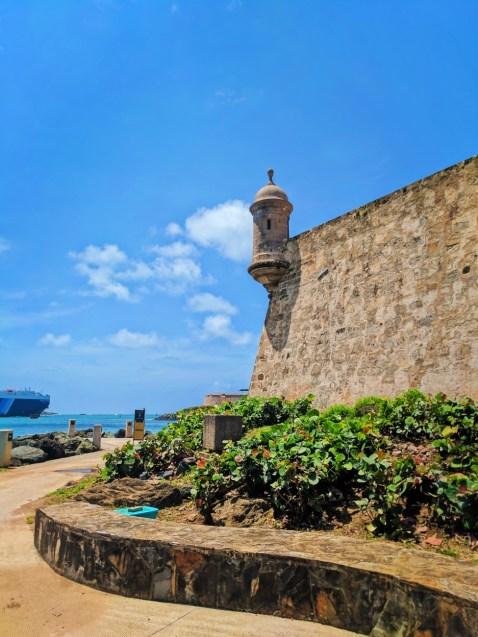 City Wall along Paseo del Morro San Juan National Historic Site Puerto Rico 1