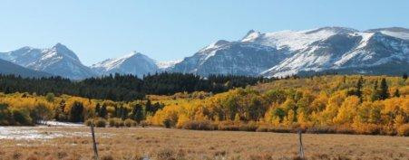 Glacier National Park from East Glacier Montana