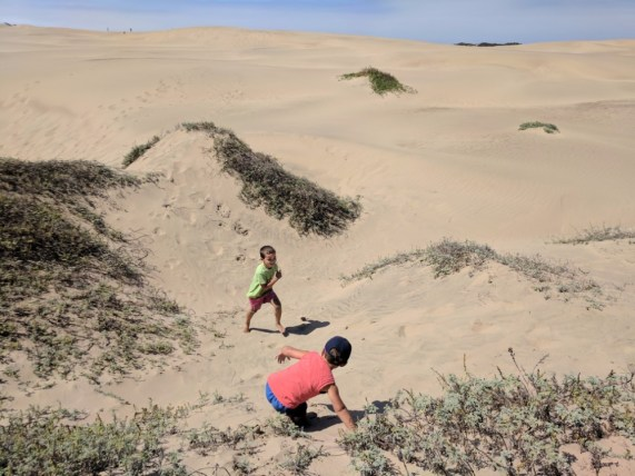 Taylor Family on dunes at Morro Bay State Park 3