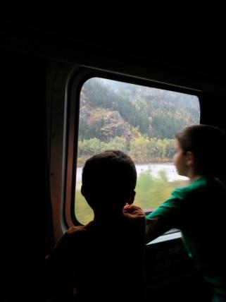 Taylor family arriving in West Glacier Montana via Amtrak Empire Builder