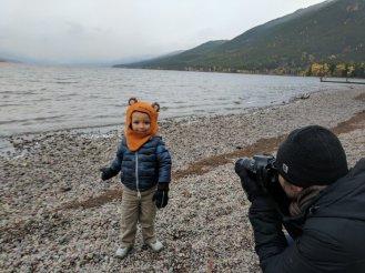 Taylor Family at Lake McDonald in Fall Glacier National Park
