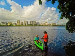 Maureen Kayaking at Condado Plaza Hilton San Juan Puerto Rico 1