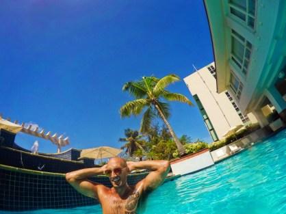 Rob Taylor in Pool at Condado Plaza Hilton San Juan Puerto Rico 1