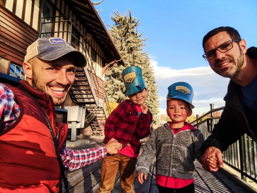 Taylor Family at Whitefish Montana Amtrak station 13