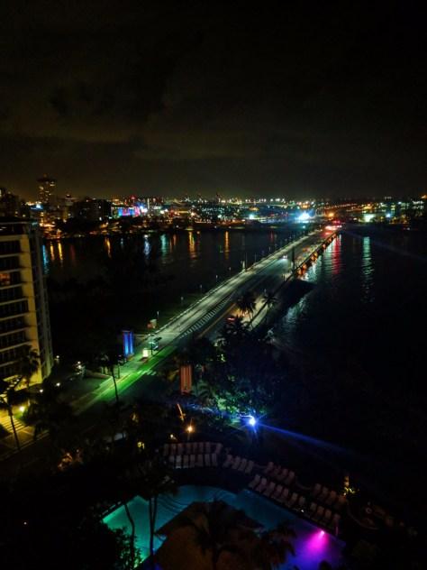 View from Condado Plaza Hilton San Juan Puerto Rico at night 1