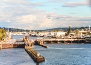Ballard Locks Seattle from Amtrak Empire Builder 1