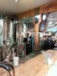 Beer cisterns at Backslope Brewing Columbia Falls Montana 1
