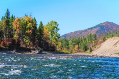 Fall Colors floating Flathead River Glacier Guides Montana Rafting Glacier National Park 10