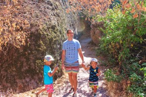 Taylor Family at Pinnalces National Park hiking talus caves trail 6