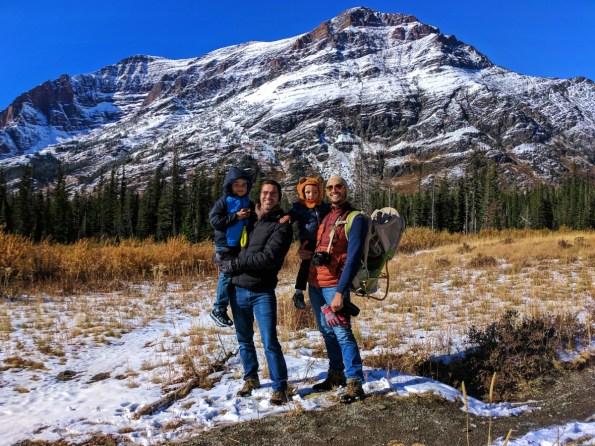 Taylor Family hiking at Two Medicine Lake Glacier National Park 11
