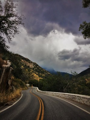 Stormy roadway in Sequoia National Park 4