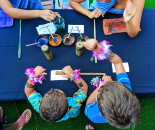 Taylor Family at Ka Waa Luau Disney Aulani Oahu 7
