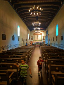 Taylor Family in Chapel at Mission San Luis Obispo 1