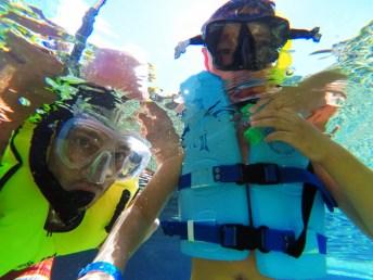 Taylor Family Snorkeling at Rainbow Reef Disney Aulani 3