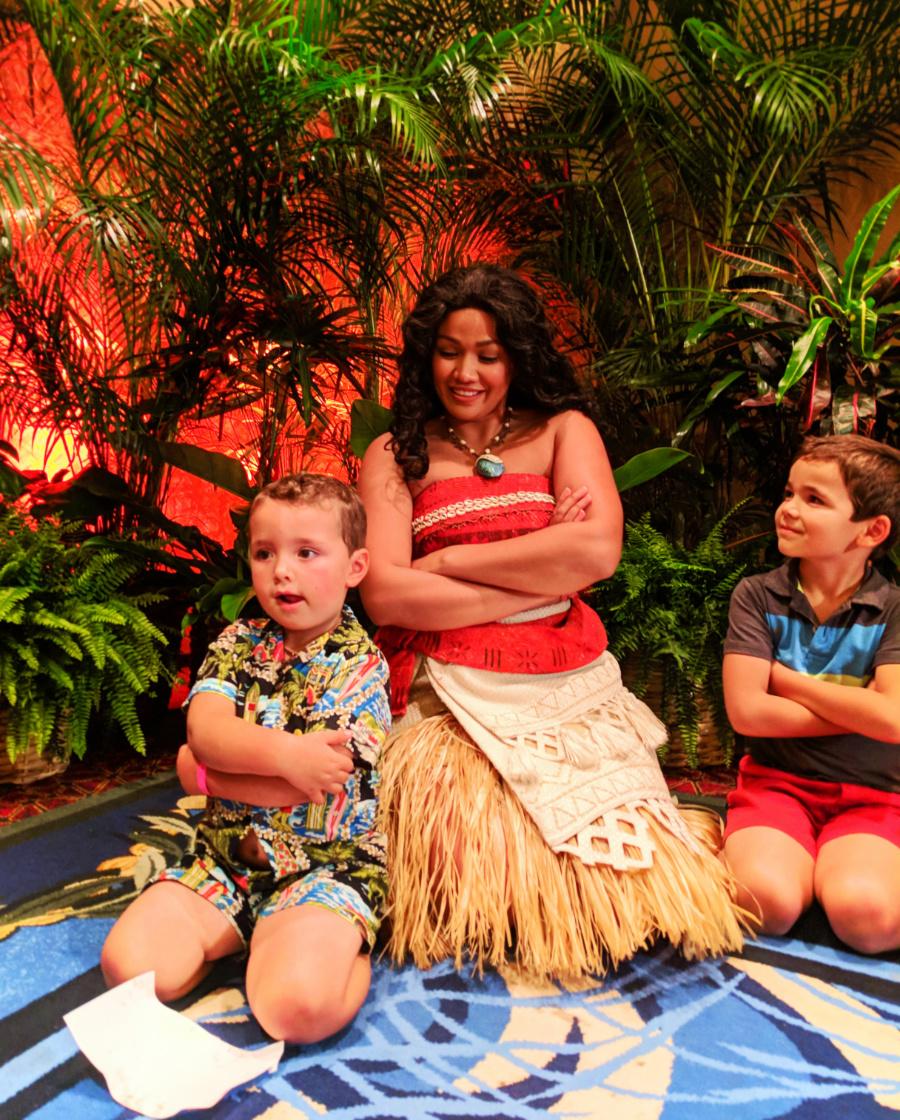Taylor Family with Moana at Disney Aulani 7