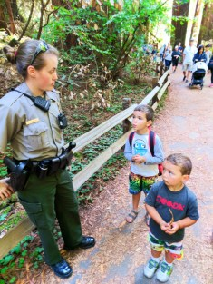 Taylor family and park ranger in Muir Woods National Monument 4