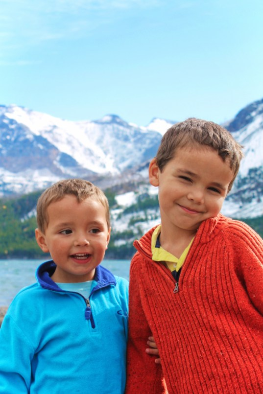 Taylor family at St Mary Lake at Rising Sun Glacier National Park 3