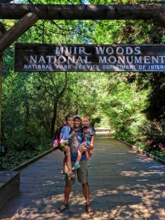 Taylor family in Muir Woods National Monument 14